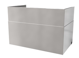 VTR duct cover 150 steel